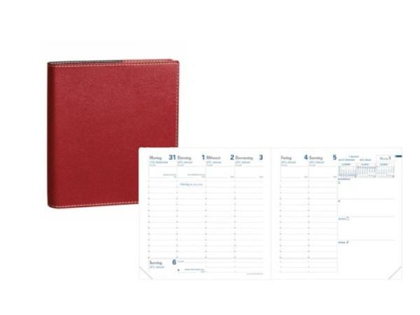 Agenda Quo Vadis Executif Club rot 7 Tage auf 2 Seiten