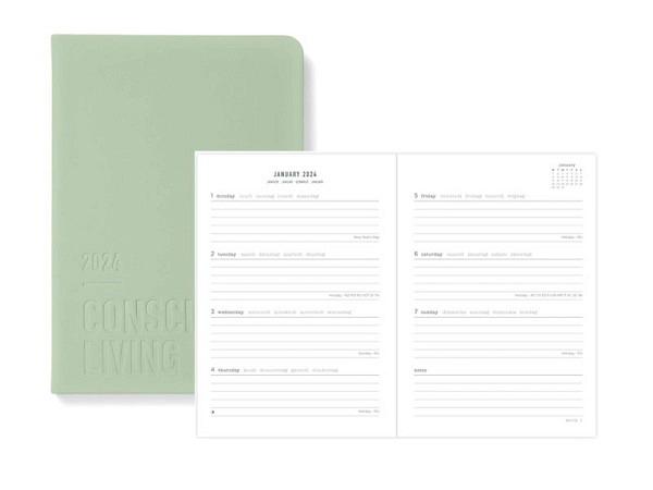 Agenda Letts Dazzle A6 Black 7 Tage auf 2 Seiten