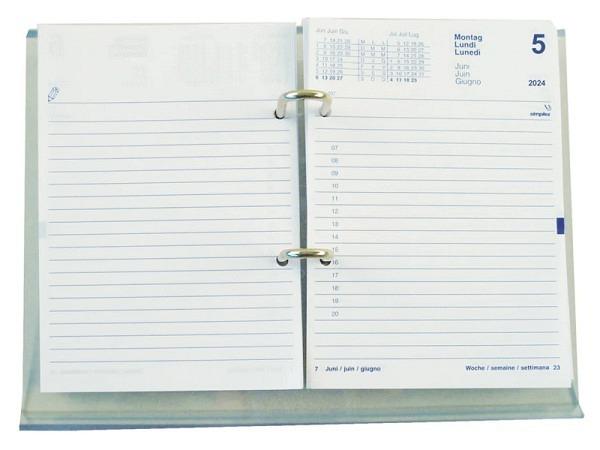 Umlegeblock Simplex 12,5x17,5cm 1 Tag pro Seite