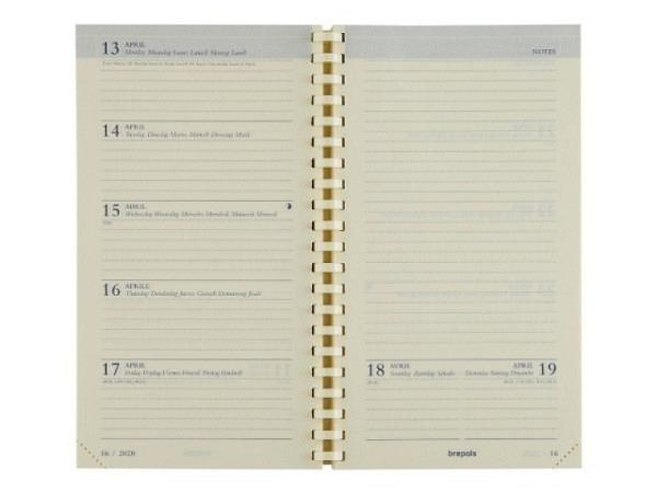 Agenda Brepols Notaplan Ersatzeinlage, 7 Tage auf 2 Seiten