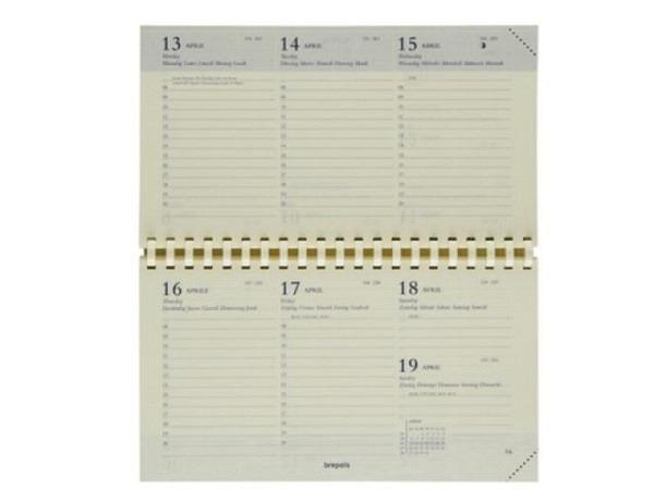 Agenda Brepols Omniplan Einlage, 7 Tage auf 2 Seiten