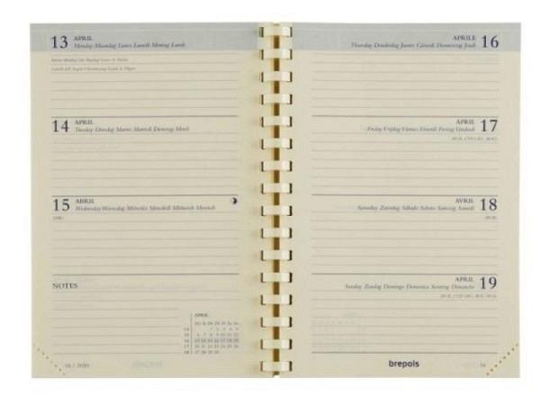 Agenda Brepols Delta Ersatzeinlage, 7 Tage auf 2 Seiten