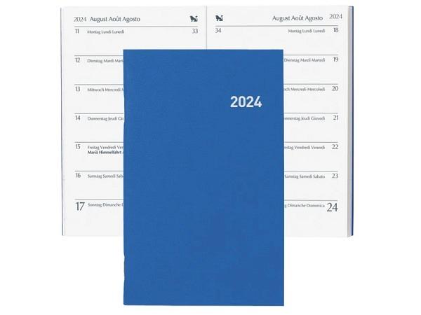 Agenda Biella Pratique blau 7 Tage auf 1 Seite, 8,7x13,6cm