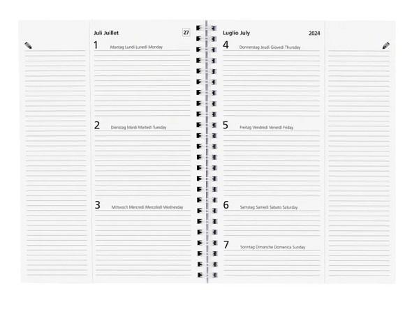Agenda Biella Poly Table Ersatzeinlage 7 Tage auf 2 Seiten