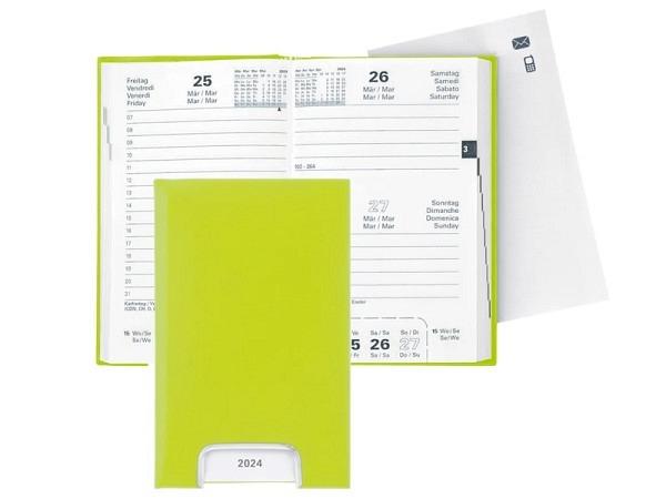 Agenda Biella Disponent Kunststoff hellgrün 1 Tag auf 1Seite