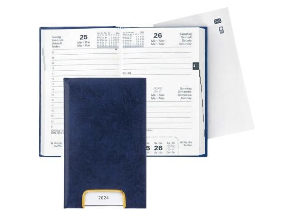 Agenda Biella Disponent Kunstleder blau, 1 Tag auf 1 Seite
