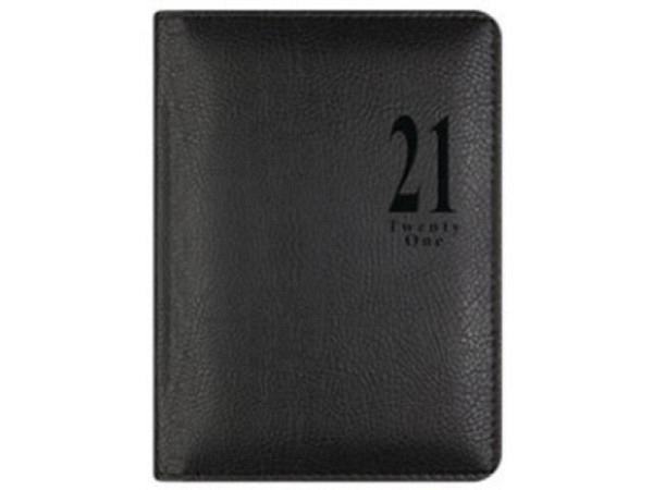 Agenda Letts Milano Compact Pocket Black 7Tage auf 2Seiten