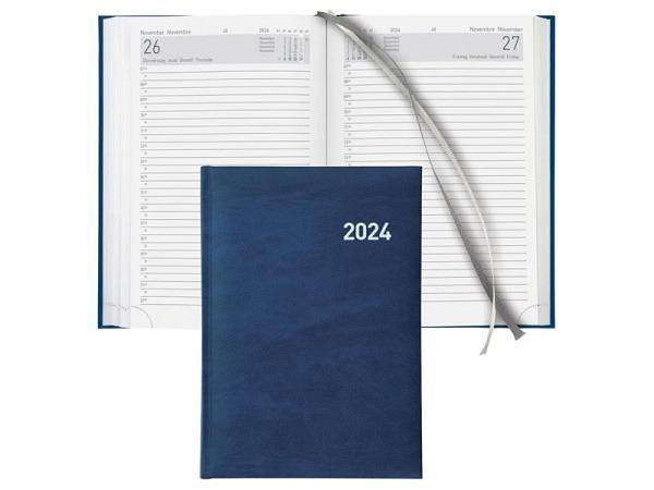 Agenda Biella Executive A5 1 Tag auf 1 Seite blau