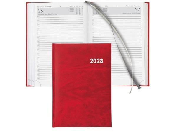 Agenda Biella Executive A5 1 Tag auf 1 Seite rot