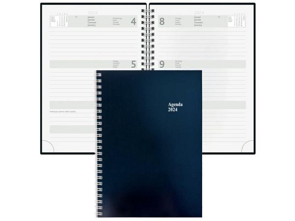 Agenda Simplex Wochenagenda A5 blau 7 Tage auf 2 Seiten