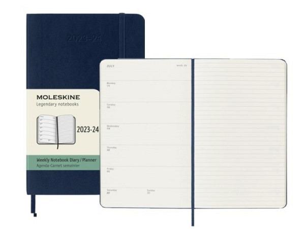 Agenda Moleskine Sommer Softcover Pocket 7 Tage auf 1 Seite A6 9x14c..