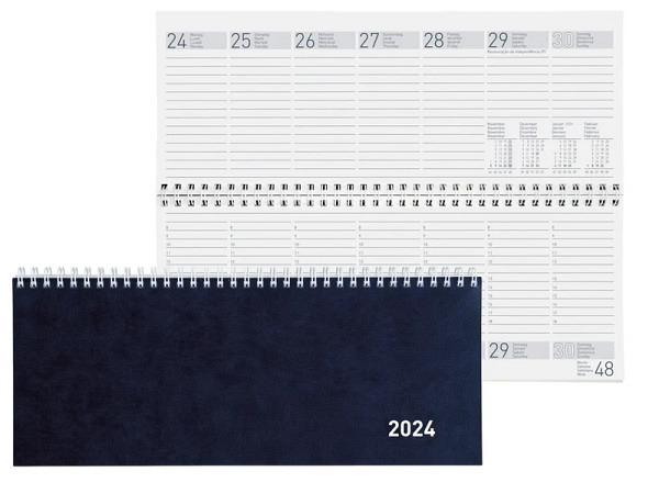 Tischkalender Biella Seplana Kartoneinband blau