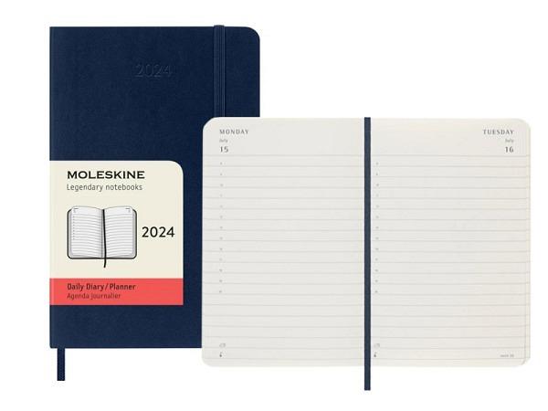 Agenda Moleskine Large 7 Tage auf 2 Seiten horizontal scharlachrot S..
