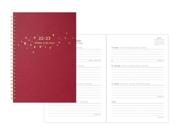 Agenda Letts Sommer Flexi Pattern Mix A6 Twisted Floral white 7 Tage..
