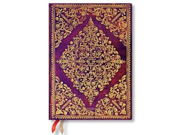 Agenda Letts Flexi Pattern Mix Ditsy Floral A6 black 7 Tage auf 2 Se..