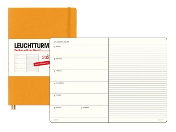 Agenda Leuchtturm Medium 7 Tage auf 1 Seite Softcover zitrone