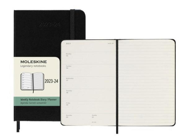 Agenda Moleskine Sommer Hardcover Pocket 7 Tage auf 1 Seite A6 schwarz