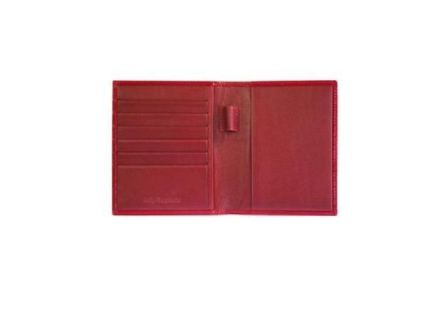 Agendahülle Daily Brepols Delta rot lackiert, 8,5x12,5 Leder