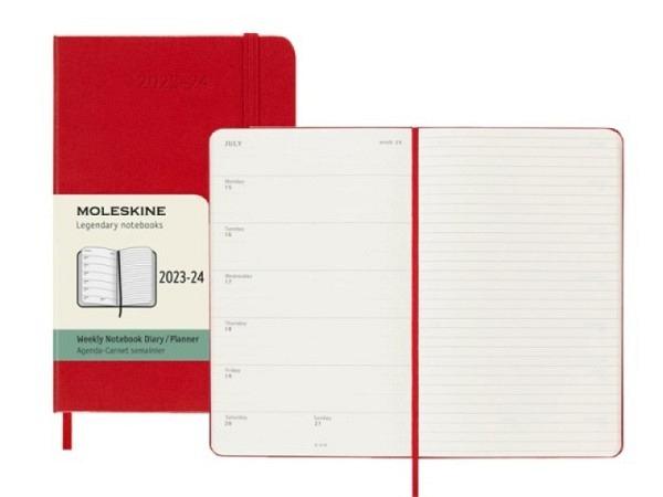 Agenda Moleskine Sommer Hardcover Pocket 7 Tage auf 1 Seite A6 Magne..