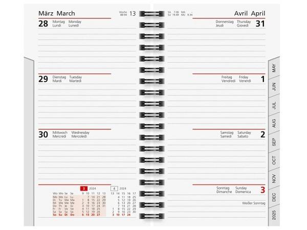 Agenda Rido Planer International Wire-O Einlage 7 Tage auf 2 Seiten