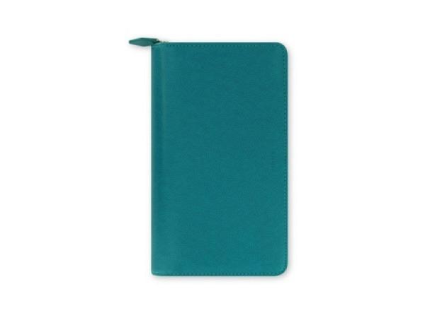 Ringbuch Filofax Personal Compact Saffiano Zip aquamarine