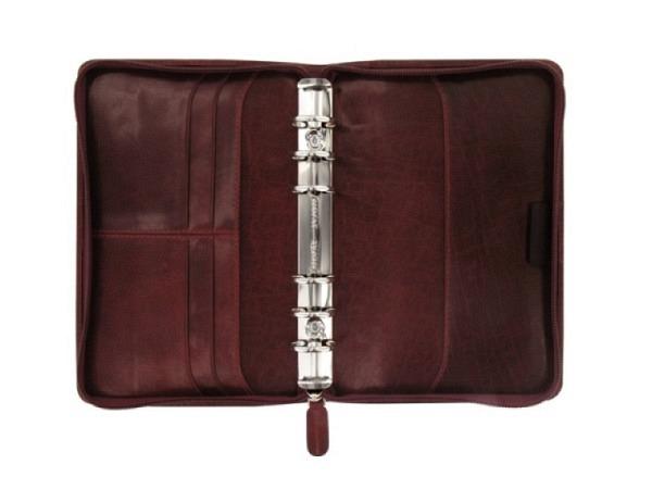 Ringbuch Filofax Personal Lockwood Zip bordeaux