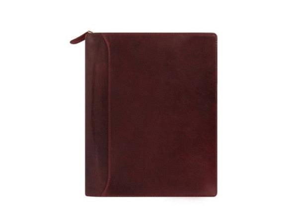 Ringbuch Filofax A5 Lockwood Zip bordeaux, Rindleder