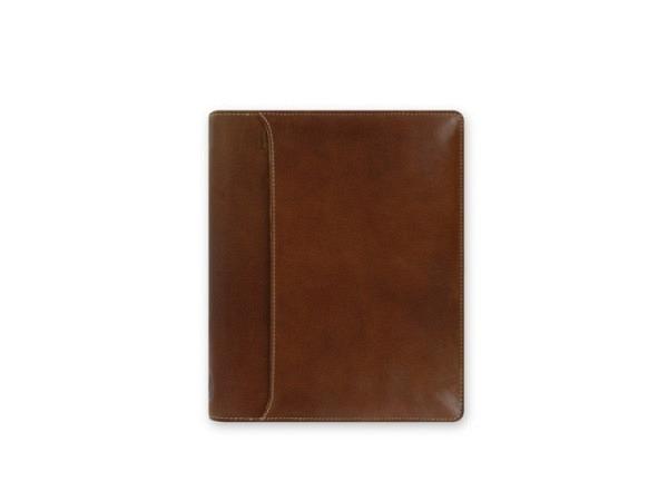 Ringbuch Filofax A5 Lockwood Zip cognac, Rindleder