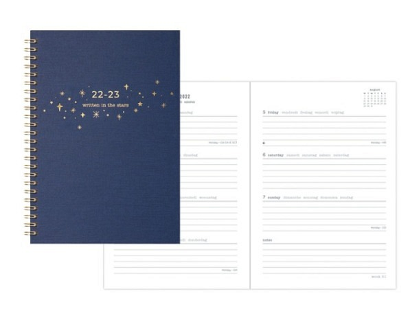 Agenda Letts Sommer Flexi Pattern Mix A6 Twisted Floral blue 7 Tage ..