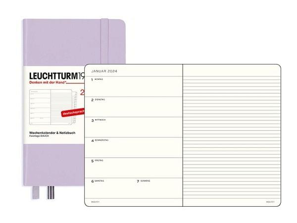 Agenda Leuchtturm Pocket 7 Tage auf 1 Seite Hardcover puder