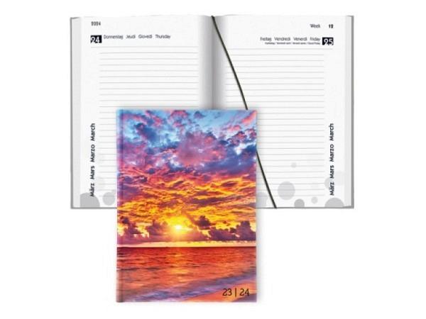 Agenda Biella Sommer laminiert Beach 1 Tag auf 1 Seite