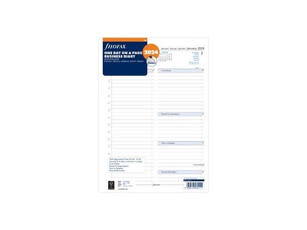 Einlage Filofax A4 Size Kalendarium Business 1Tag auf 1Seite
