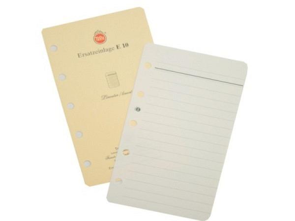 Agenda Tebe Einlage E10 Notizpapiereinlage liniert 6,2x10,5