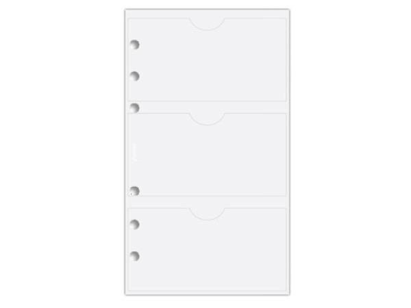 Einlage Filofax Personal Visitenkartenhülle trans oben offen