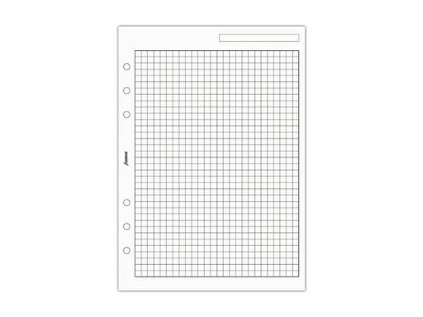 Einlage Filofax A5 Size Notizpapier kariert weiss 25 Blatt