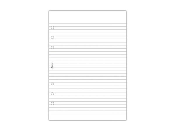Einlage Filofax A5 Size Notizblock liniert weiss 50 Blatt