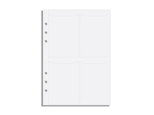 Einlage Filofax A5 Size Visitenkartenhülle transparent
