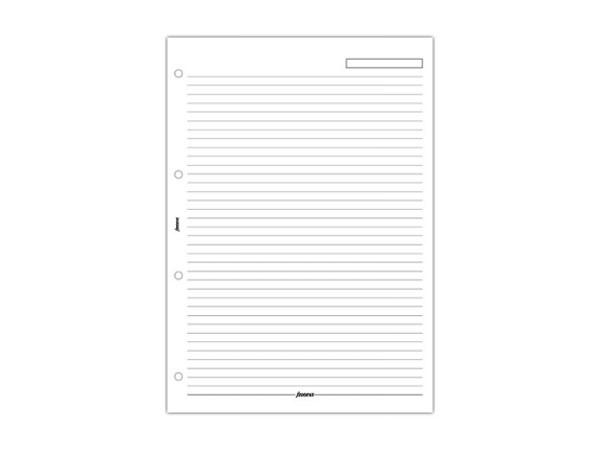 Einlage Filofax A4 Size Notizpapier liniert weiss 20 Blatt