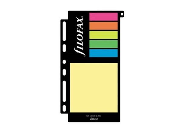 Einlage Filofax Haftnotizen farbig sortiert, versch Grössen