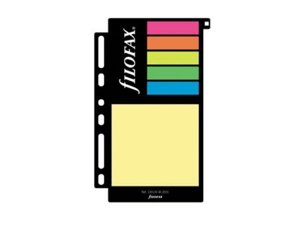 Einlage Filofax Haftnotizen farbig sortiert