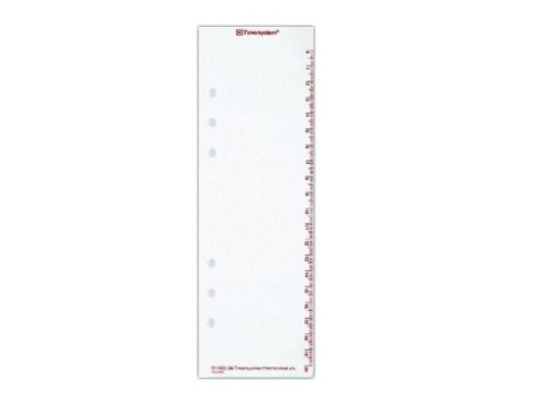 Einlage Timesystem A5 Terminzeichen transparent