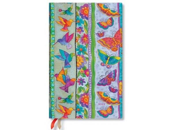 Agenda Paperblanks Maxi Schmetterlinge, 7 Tage auf 1 Seite