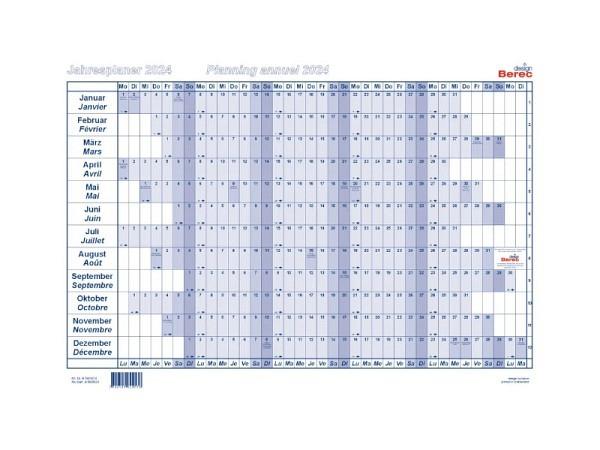 Wandplaner Berec Papier 170g/qm A5 Nr. B5605 2021