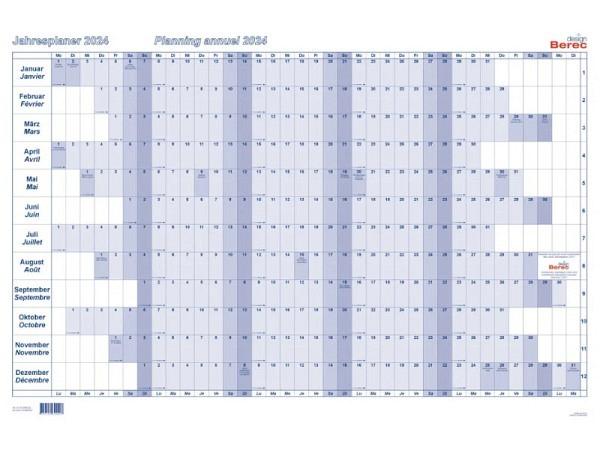 Wandplaner Korsch 10-Jahreskalender 2015 bis 2024, 29,7x21cm