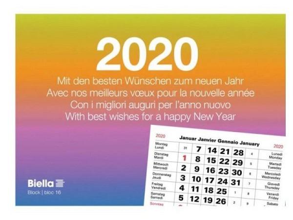 Abreisskalender Biella Block 16 quer, 14,8x10,5cm 1Monat auf 1Seite