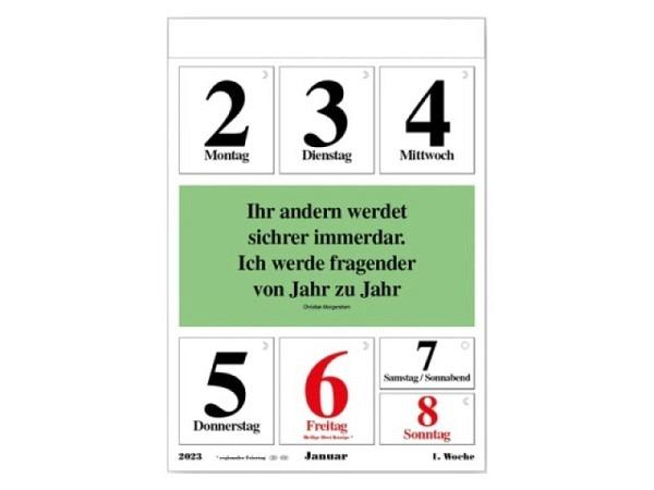 Abreisskalender Leitspruch-Kalender 1 Woche auf 1 Seite, 28x40cm