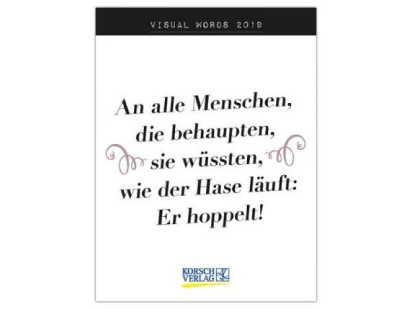 Abreisskalender Korsch Visual Words, 12x16cm