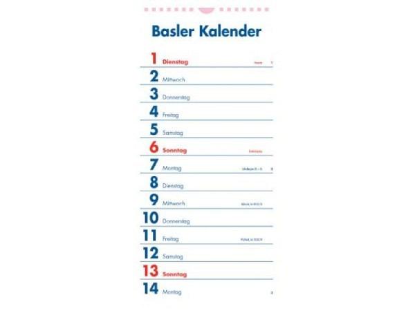 Kalender Klingental, 16x70cm mit Spiralbindung