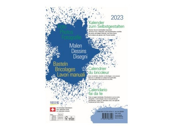 Bastelkalender Korsch Foto, Malen, Basteln weiss 21x29,7cm