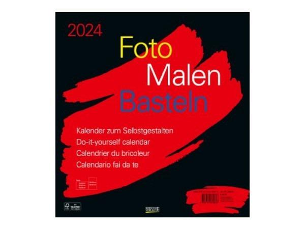 Bastelkalender Korsch Foto Malen 2017 schwarz 45,5x48